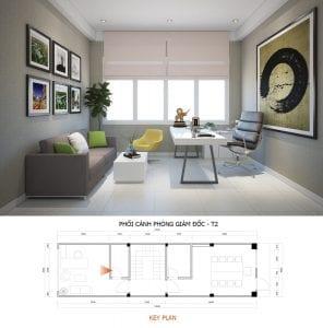 mẫu thiết kế văn phòng công ty phòng giám đốc
