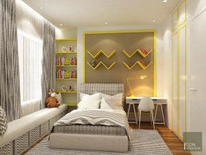 Thiết kế nội thất căn hộ Tropic Garden - phòng ngủ bé 1