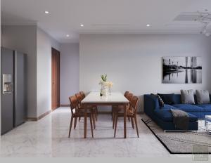 thiết kế nội thất căn hộ 2 phòng ngủ - Phòng ăn