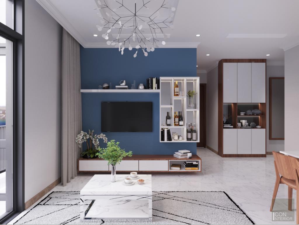 thiết kế nội thất căn hộ 2 phòng ngủ - Phòng khách