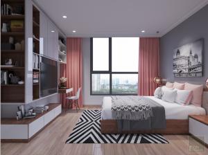 thiết kế nội thất căn hộ 2 phòng ngủ - Phòng ngủ master