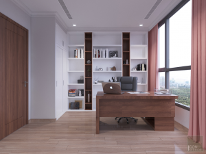 thiết kế nội thất căn hộ 2 phòng ngủ - Phòng làm việc