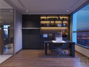 thiết kế nội thất phòng làm việc vinhomes central park landmark 1