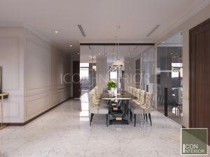 thiết kế nội thất căn hộ vinhomes central park phòng ăn
