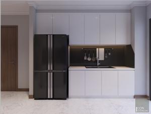 thiết kế nội thất nhà bếp vinhomes central park landmark 1
