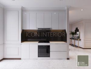 thiết kế nội thất căn hộ vinhomes central park nhà bếp