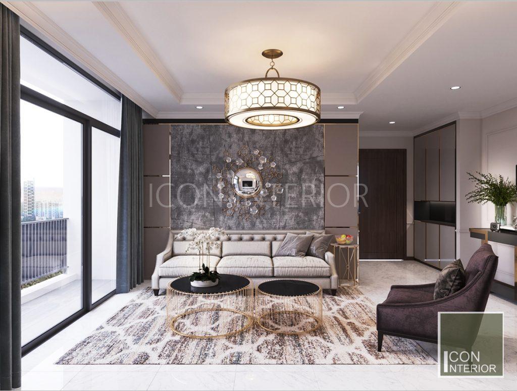 thiết kế nội thất phong cách châu âu phòng khách