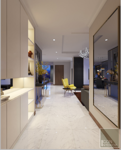 thiết kế nội thất tiền sảnh vinhomes central park landmark 1