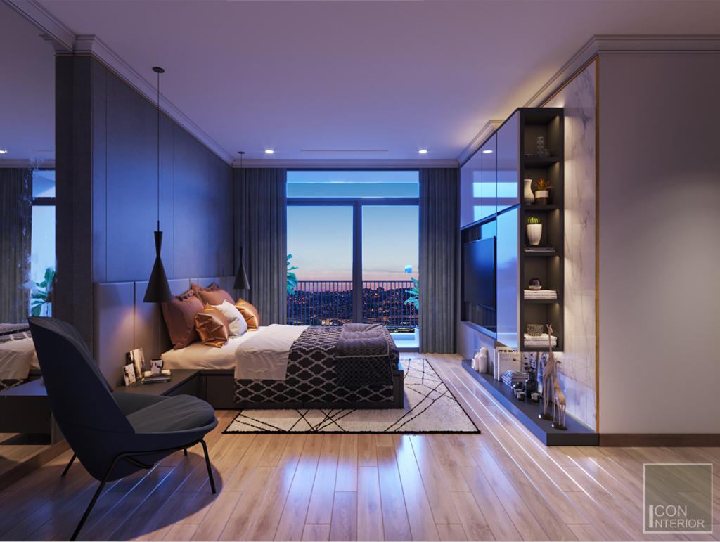 thiết kế nội thất phong cách châu âu phòng ngủ