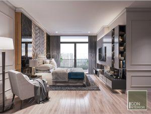 thiết kế nội thất căn hộ vinhomes central park - phòng ngủ master