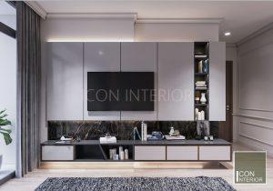 thiết kế nội thất căn hộ vinhomes central park phòng master