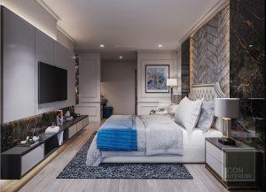 thiết kế nội thất căn hộ vinhomes central park phòng ngủ