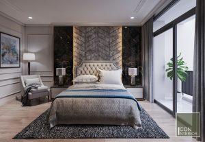 thiết kế nội thất căn hộ vinhomes central park - phòng master