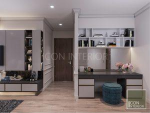 thiết kế nội thất căn hộ vinhomes central park phòng ngủ master