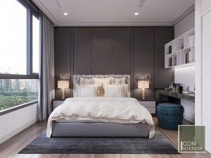 thiết kế nội thất căn hộ vinhomes central park phòng ngủ nhỏ