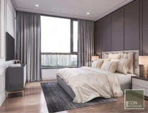 thiết kế nội thất căn hộ vinhomes central park - phòng ngủ nhỏ