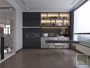 thiết kế nội thất căn hộ vinhomes central park phòng đa năng