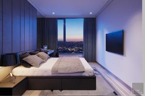 thiết kế nội thất phòng ngủ nhỏ vinhomes central park landmark 1