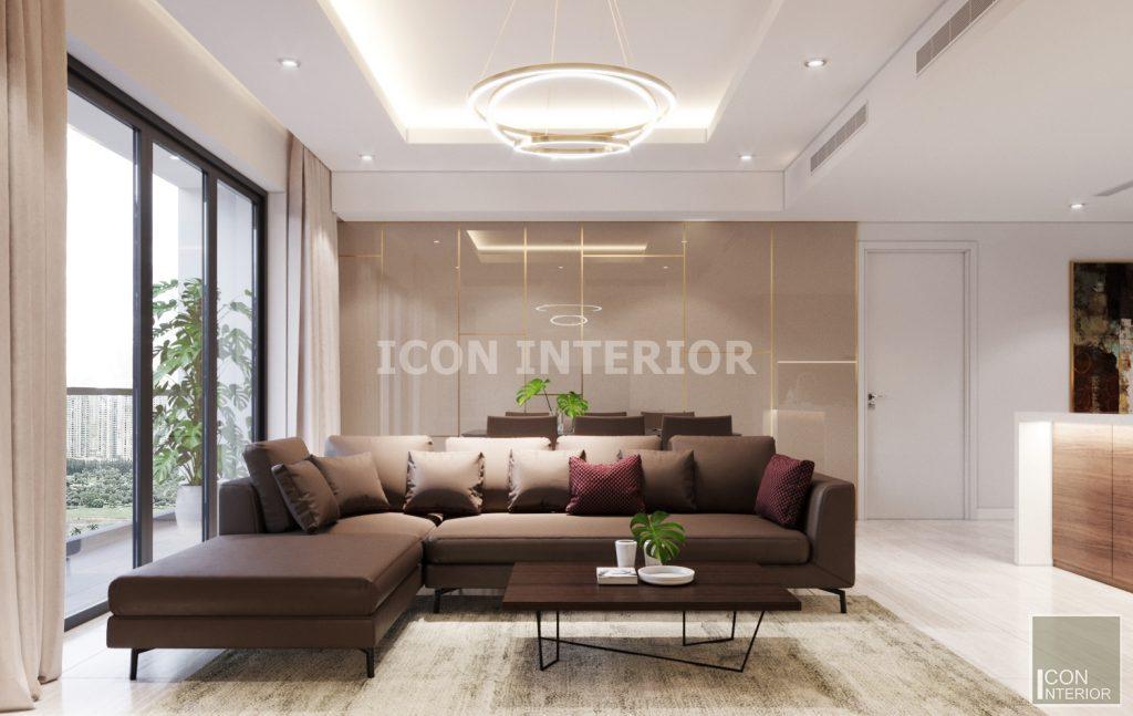 thiết kế nội thất phong cách châu âu phòng khách bếp