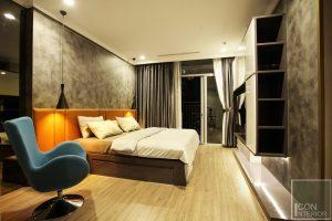 thi công nội thất phòng ngủ master 1