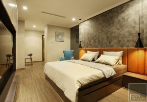 thi công nội thất phòng ngủ master 2