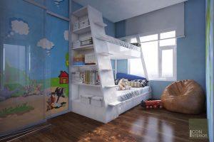 Thiết kế nội thất căn hộ Tropic Garden - phòng ngủ bé 3