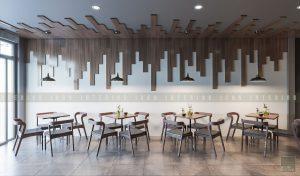thiết kế nội thất quán cafe đẹp - tầng 1