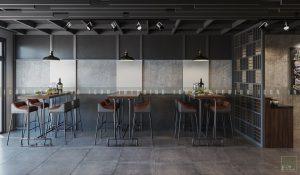 thiết kế nội thất quán cafe đẹp tầng 2
