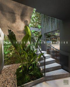 thiết kế nội thất quán cafe đẹp cầu thang 1