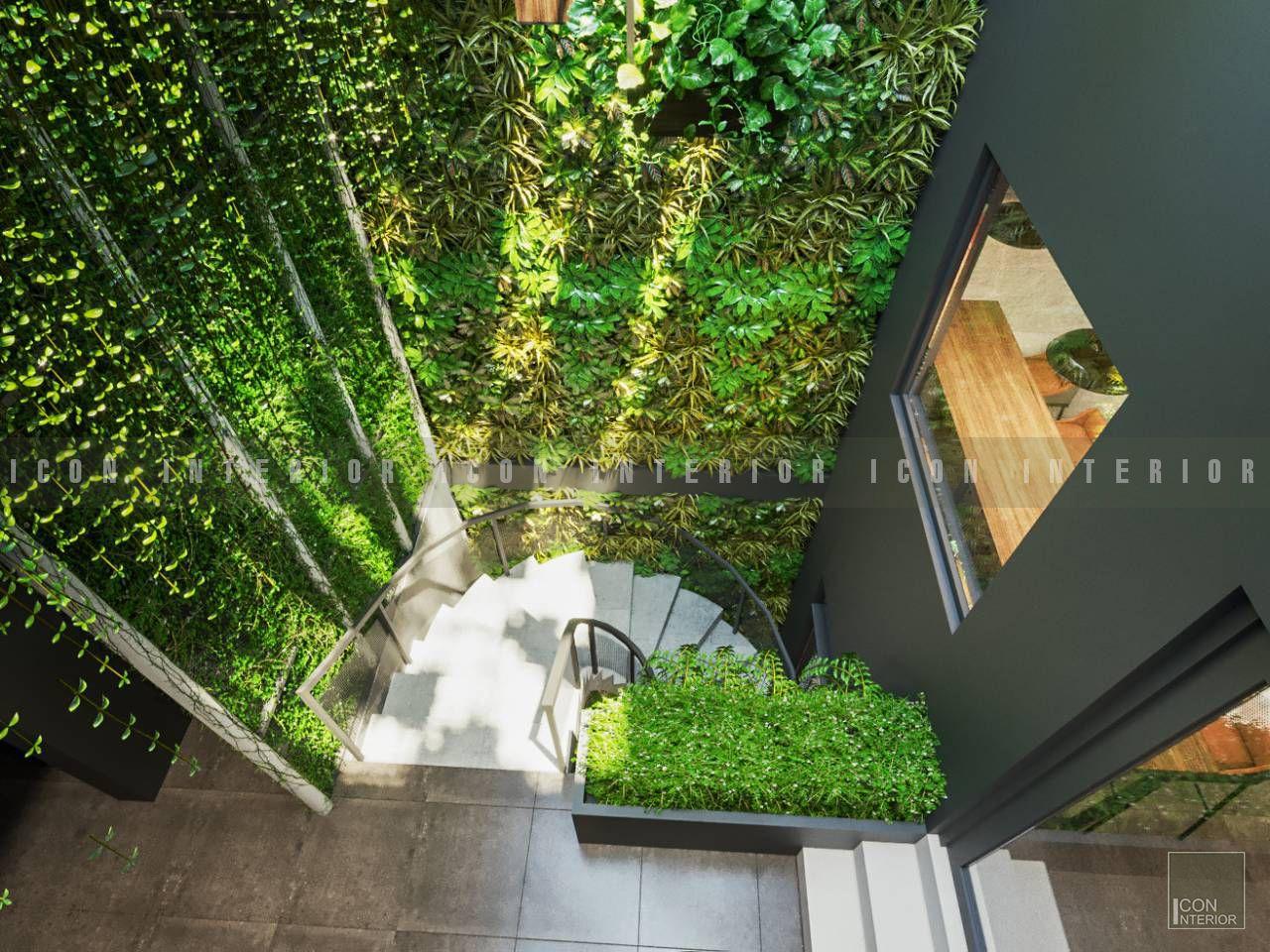 thiết kế nội thất quán cafe đẹp cầu thang 3