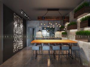 thiết kế nội thất quán cafe đẹp 1