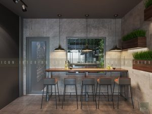 thiết kế nội thất quán cafe đẹp 2