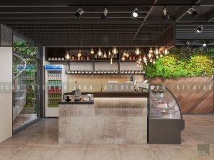 thiết kế nội thất quán cafe đẹp quầy pha chế
