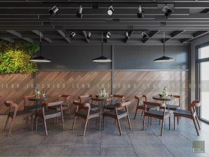 thiết kế nội thất quán cafe đẹp - tầng 2