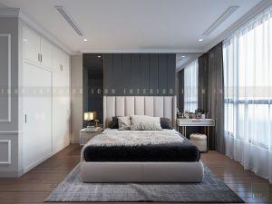 thiết kế nội thất phong cách tân cổ điển - phòng ngủ nhỏ
