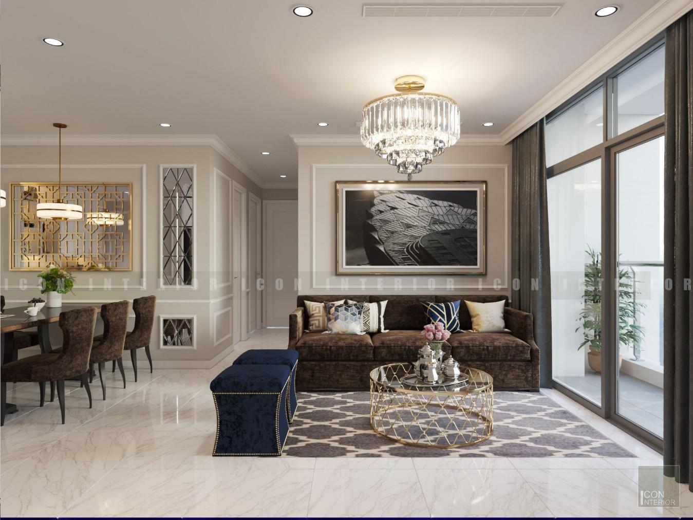 thiết kế nội thất phong cách tân cổ điển - phòng khách