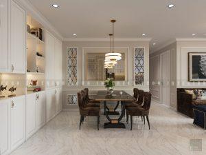 thiết kế nội thất phong cách tân cổ điển - phòng ăn