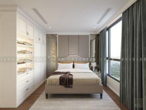 thiết kế nội thất phong cách tân cổ điển - phòng ngủ master