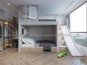 thiết kế nội thất phòng bé vinhomes central park