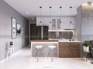 thiết kế nội thất quầy bar đơn giản
