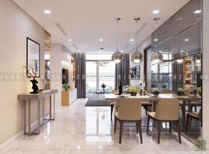 thiết kế nội thất bếp chung cư