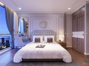 thiết kế nội thất phòng master chung cư