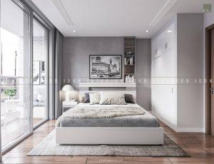 thiết kế nội thất phòng ngủ master đơn giản