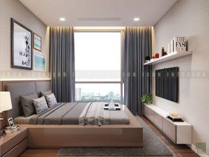 thiết kế nội thất phòng ngủ nhỏ chung cư