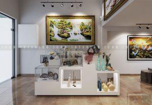 Thiết kế nội thất showroom - kệ trưng bày