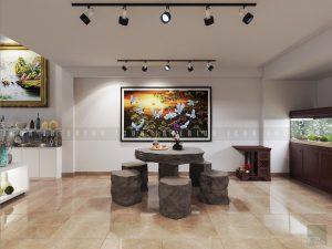 Thiết kế nội thất showroom - bàn đá