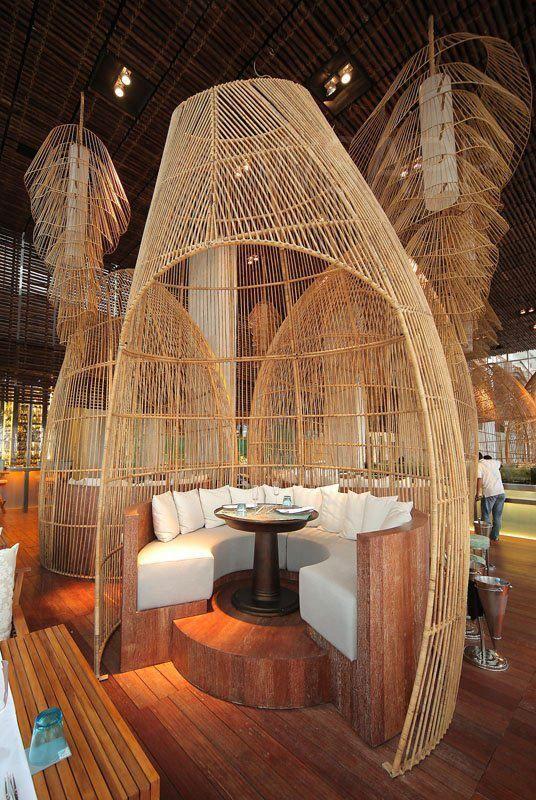 thiết kế nhà hàng tre 3