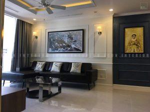 thi công nội thất tphcm - Phòng khách căn hộ Vinhomes