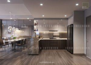 dự án the gold view quận 4 - thiết kế nhà bếp