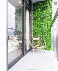 thiết kế nội thất chung cư tân cổ điển ban công phòng ngủ